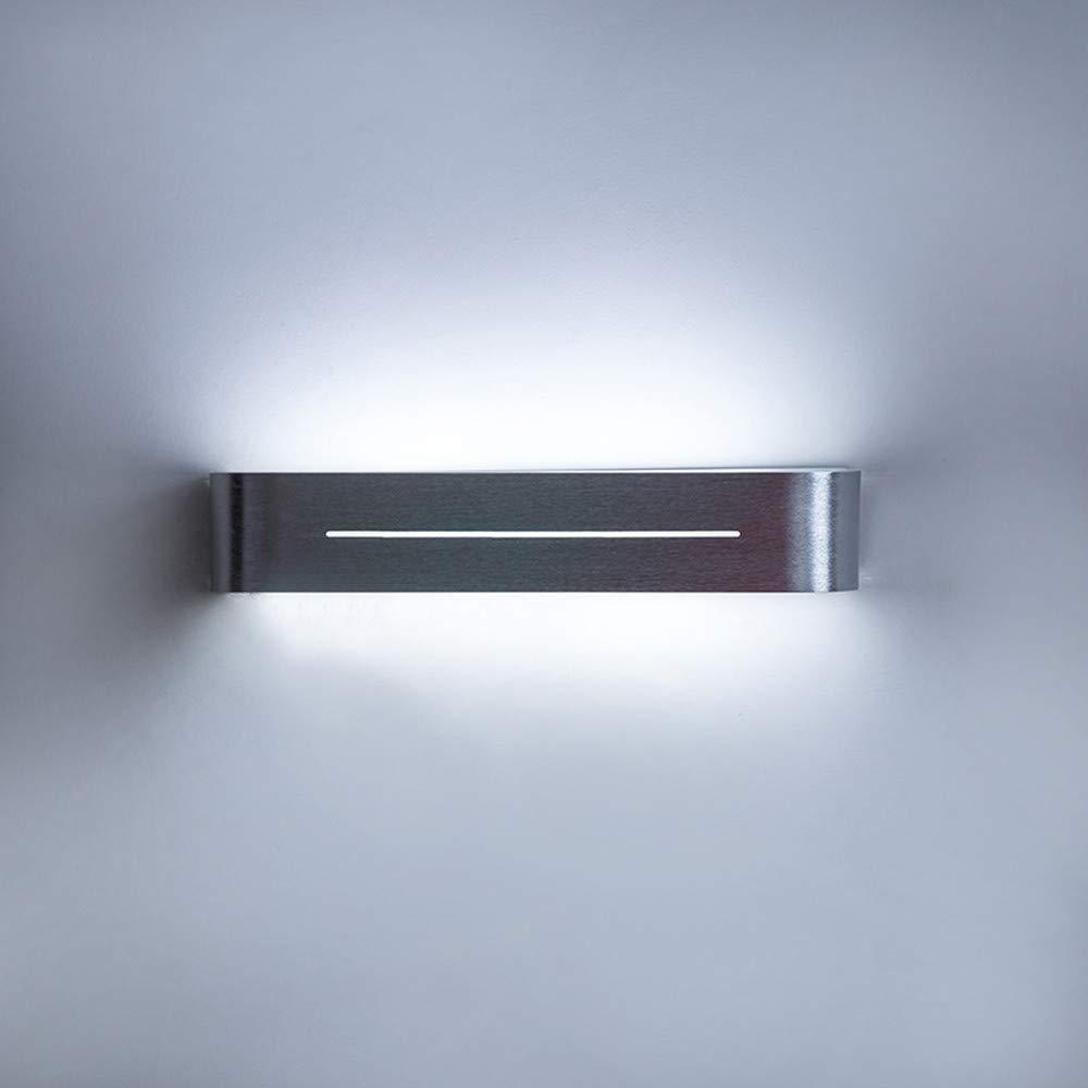 Ehime Wandspots Wandbeleuchtung Praktisches Antikorrosions-einfaches Innen-im Freien Retro- verdunkelndes Bettleselicht-Gartengang LED-Wandlicht, weißes Licht, Aluminium (Größe LHW  38  7.4  7CM)