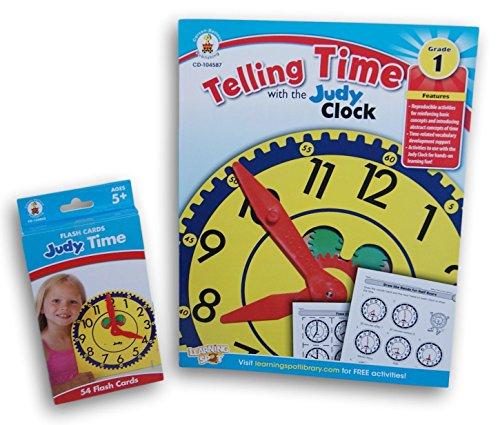Carson-Dellosa Telling Time with the Judy Clock and Flash Cards by CD-2