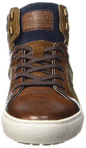 Australische Sneakers Leder Herren aus Hellbraun High Nebraska Top Beige ROwgRr