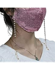 Sttiafay Pearl Beaded Face Mask Chain Eyeglass Strap Retainer Dual-purpose Sunglasses Mask Holder Chain Lanyard for Women