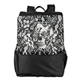 Search : OTDR Outdoor Travel Hipster Lace Skull Butterfly Pattern Laptop Rucksack