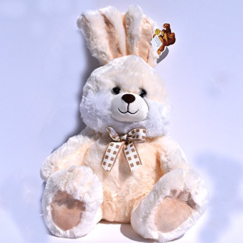 Cream Easter Bunny Rabbit Fluffy Animated Plush w/ Musical Song Peter Cottontail ()