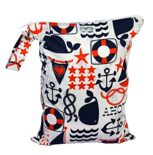 Snuggy Baby Large Wet Bag - Anchors Away by Snuggy Baby