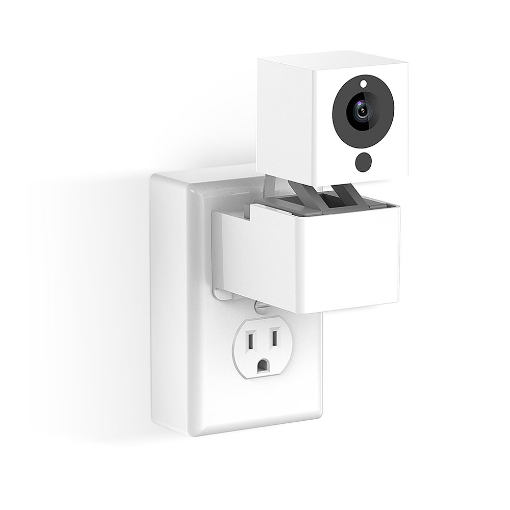 Outlet Wall Mount Hanger Stand for Wyze Camera and iSmartAlarm Spot Camera, Space-Saving for Your Wyze Camera and Wyzecam V2 without Messy Wires