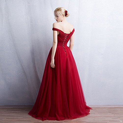 Tulle Elegant Dress Gowns Long Prom Wedding BessWedding Bridal Pink1 Women up Lace pfZE5wq