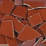 terra cotta tiles 5 Pounds of Broken Talavera Mexican Ceramic Tile in Terra Cotta Solid Color