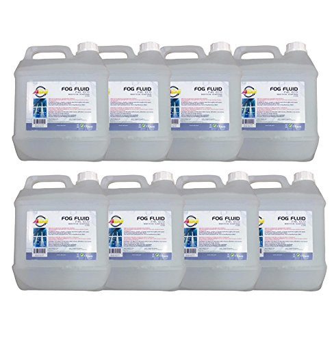 (8) AMERICAN DJ ECO-FOG/G Gallons of Fog/Smoke/Haze Machine Refill Liquid Juice by AMERICAN DJ