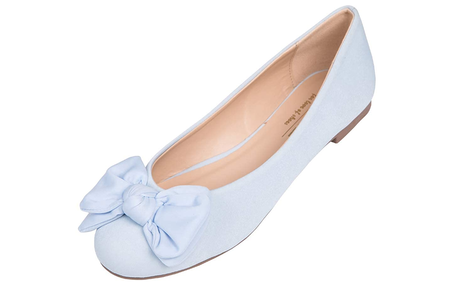 Vintage Style Shoes, Vintage Inspired Shoes Feversole Womens Round Toe Cute Bow Trim Ballet Flats $19.99 AT vintagedancer.com