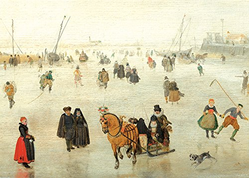 Scene On The Ice - 5 x 7 Christmas Museum Card