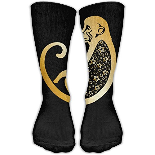 Crew Socks Zodiac Monkey Sock Protect The Wrist For Cycling Moisture Control Elastic Socks -