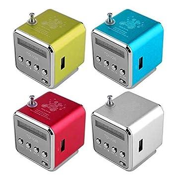Amazon.com: YIGEYI Mini altavoz Bluetooth Estereo inalambrica portatil reproductor de MP3 FM Radio altavoz TF tarjeta The Perfect one for You (Color : Red): ...