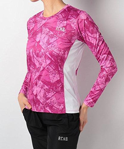 地平線無謀窓(ナンバー) Number レディースプリント長袖Tシャツ L アーバンツリーピンク