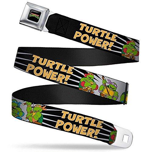 - Buckle-Down Seatbelt Belt - Classic TMNT Group Pose/TURTLE POWER! - 1.5