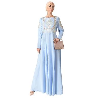 c4f2688e8e0 Top Embroidered Eid Abaya Dress + Hijab at Amazon Women s Clothing ...