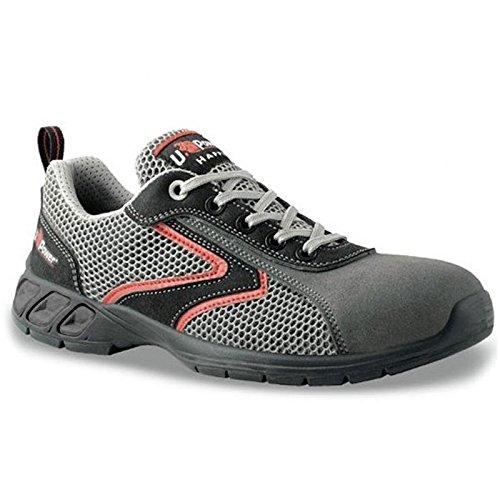Shaker S1P Happy U-Power - Zapato de seguridad Airnet + microfibra con puntas de Carbon gris Size: 40 dvca0nY