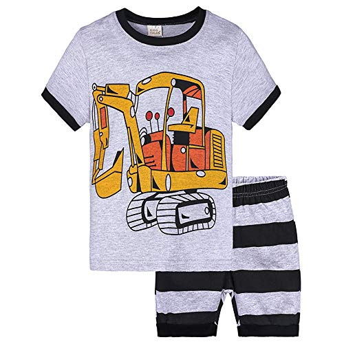 Little Boys Short Sets 2 Piece Pajamas Trian Shark Sleepwear 100% Cotton Toddler Pjs Summer Kids Clothes 2-7T
