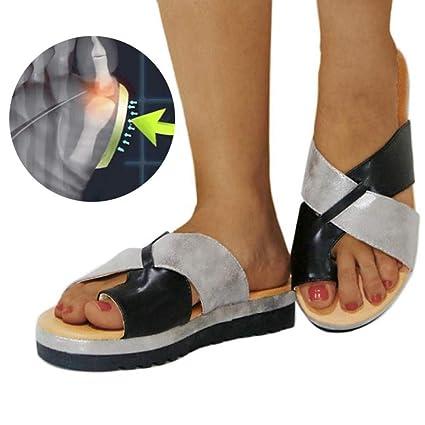 Corrector De Juanetes Ortopédico para Mujeres Zapatos Ortopédicos, Sandalias Correctoras Suaves con Dedo Gordo del
