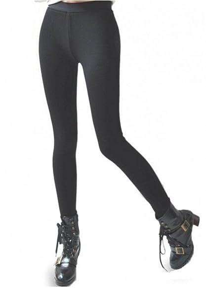 cf57718d73f1c Women s Very Thick Winter Pants Footless Stretchy Leggings Black  (M L-Regular)