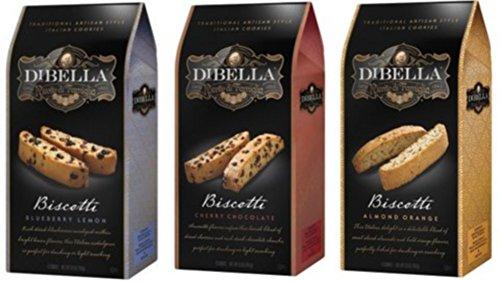 Dibella Biscotti Variety Bundle Blueberry Lemon, Cherry Chocolate, Almond Orange
