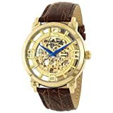 Stuhrling Original Mens 165B.3335K31 Classic Winchester Grand Automatic Skeleton Gold Tone Watch