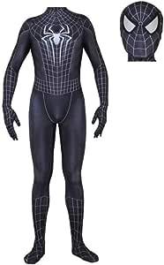 Spiderman Negro Superhéroe Niño Adulto Spiderman Regreso A