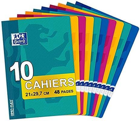 Oxford OpenFlex – Juego de 10 cuadernos A4, hojas, 48 páginas ...