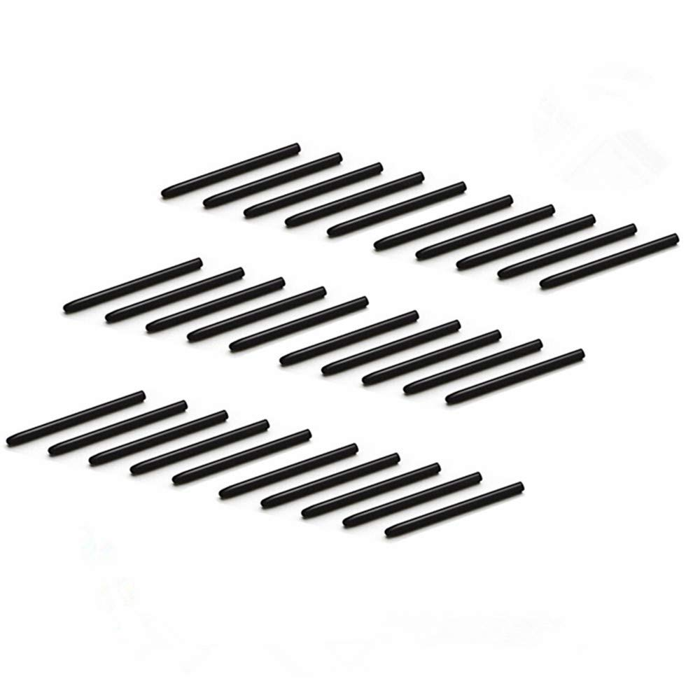 NEFUTRY 30 Pack Replacement Pen Standard Black Nibs for Wacom Bamboo Intuos Cintiq (30pcs)