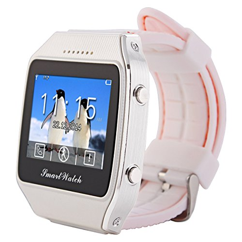 LeFun Neo Bluetooth GPS Smart Watch Wristwatch Phone Mate for Android and IOS Iphone(Partial Functions) Smartphone (white)