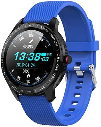 Smart Fitness Watch,IP68 Waterproof Smartwatch Activity Tracker for Men,Fitness Tracker with Heart Rate/Blood Pressure/Sleep Monitor, Calls/SMS Remind for Android & iOS