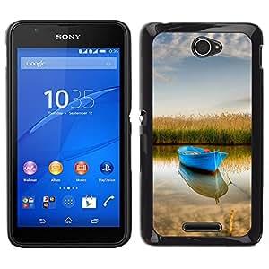 """For Sony Xperia E4 , S-type Naturaleza Barco"""" - Arte & diseño plástico duro Fundas Cover Cubre Hard Case Cover"""