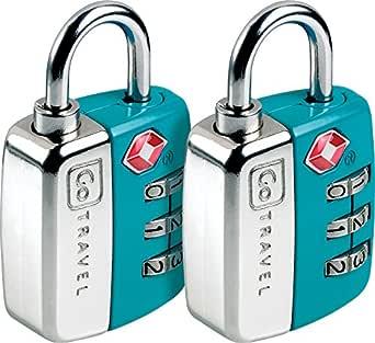 Go-Travel Sentry Twin Luggage Lock, Assorted, 344