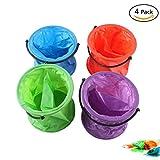 4 Pcs Multifunctional Collapsible Bucket Folding Bucket for Art Paint Brush Washing Painting Tools
