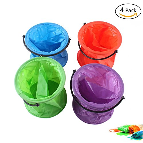 4 Pcs Multifunctional Collapsible Bucket Folding Bucket for Art Paint Brush Washing Painting Tools by Easy 99