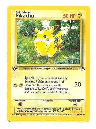 Pokemon - Pikachu (60) - Jungle - 1st (One 1st Edition)