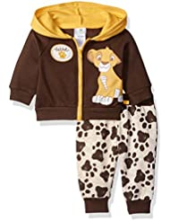 Disney Baby Boys' 2-Piece Lion King Simba Hoodie with Printed Jogger Set