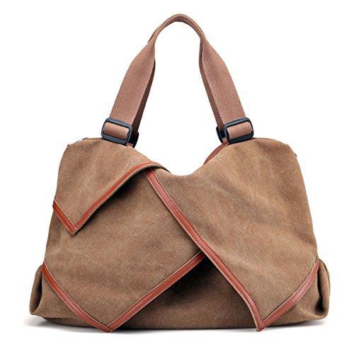 UGOOO European Medieval retro Style Canvas Tote/Shoulder Bag (Brown)