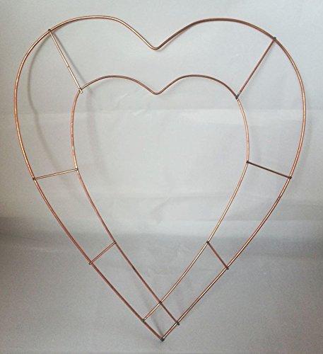 Cœur ouvert 38, 1cm X 20Cadre plat Couronne en cuivre–Bague de Noël Mariage Memorial Craft Cœur ouvert 38 Oasis