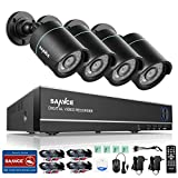 SANNCE 8CH 1080N Security Camera System DVR and (4) 720P Night Vision Surveillance Cameras with IP66 Weatherproof , P2P Technology/E-Cloud Service, QR Code Scan Remote Access — NO HDD Review