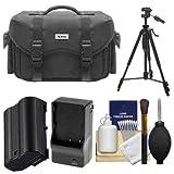 Nikon 5874 Digital SLR Camera Case - Gadget Bag with EN-EL15 Battery + Charger + Tripod + Cleaning Kit for D7200, D7500, D610, D810 & D850