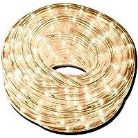 Luces de Navidad, maguera LED 10 metros calido, tubo flexible con manguera transparente, listo para electricidad mexico…