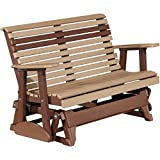 Cheap LuxCraft Rollback Recycled Plastic 4ft. Patio Glider