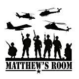 best army wall decals  Custom-made Personalized Army Marines Navy Vinyl Wall Decal Boys Bedroom Military-you Choose the Color and Name