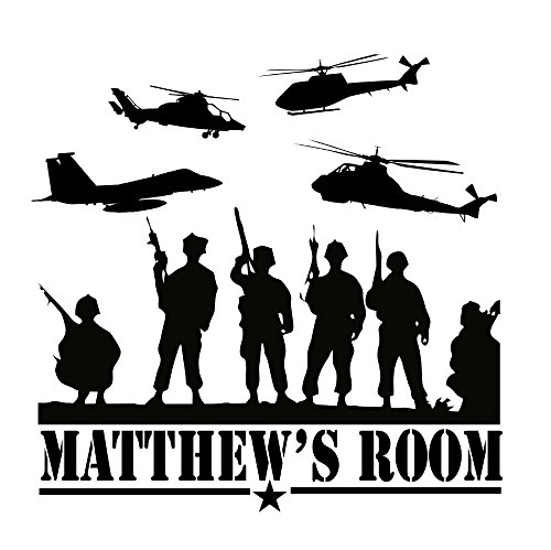 Cheap  Custom-made Personalized Army Marines Navy Vinyl Wall Decal Boys Bedroom Military-you Choose..