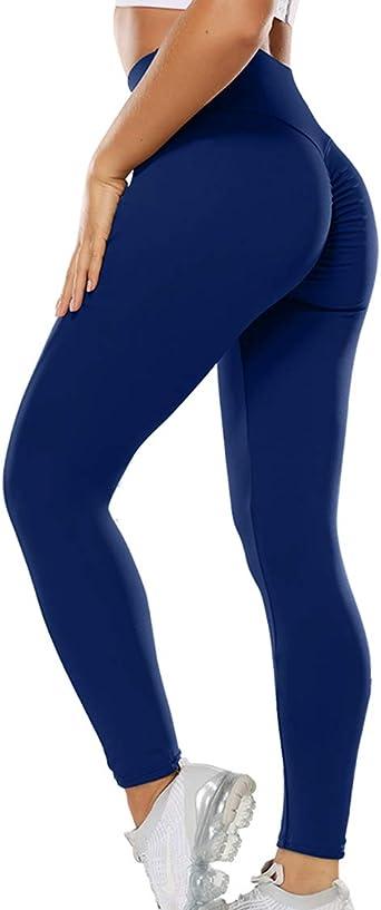 CRZ YOGA Donna Controllo Pancia Lycra Palestra Pantaloni Yoga Fitness Sportivi Leggings con Tasche 63cm