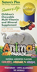 Animal Parade - Assorted Nature's Plus 180 Chewable