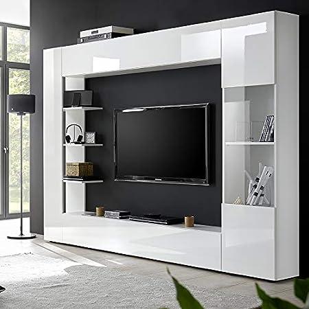 Kasalinea Soprano - Mueble para TV de Pared, Color Blanco: Amazon.es: Hogar
