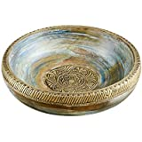 Rusticity Wood Decorative Bowl/Serving Bowl/Key Bowl/Rustic Fruit Bowl | Mango Wood | Handmade | (10 inch)