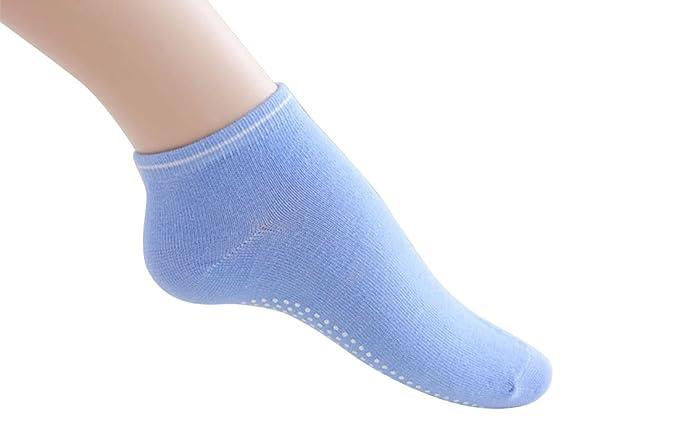 JYR Yoga Calcetines antideslizantes con agarres de silicona Antideslizante Pilates y Bikram Calcetines de fitness con