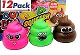 Squishy Poop (Pack of 12) by JA-RU | Squishies Very Slow Rising Poo Emoji | Item #6430-12