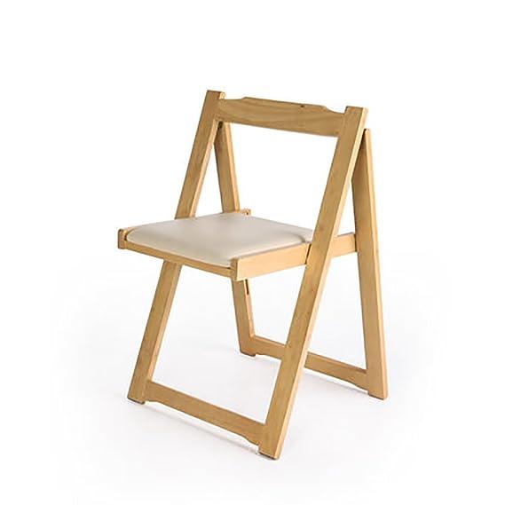 Amazon.com: yxwyz mesas plegables silla madera maciza ...